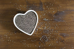 Heart Healthy Chia Seeds Horizontal Stock Photos