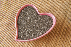 Heart Healthy Chia Seeds Stock Image