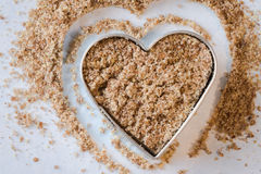 Heart Healthy Ground Flaxseed Royalty Free Stock Images