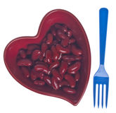 Heart Healthy Kidney Beans Royalty Free Stock Image