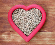 Heart Healthy Lentils Stock Photography