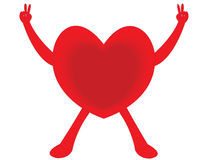 Heart. The healthy red heart on white background Royalty Free Stock Photo
