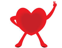 Heart. The healthy red heart on white background Stock Image