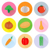 Heart healthy vegetable. Hearth healthy vegetable vector set Stock Photo