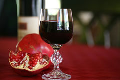 Heart Healthy Wine Stock Image