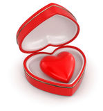 Heart in heart box (clipping path included) Royalty Free Stock Photo
