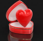 Heart in heart box (clipping path included) Royalty Free Stock Photos
