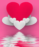 Heart On Heart Clouds Displays Romantic Heaven Or In Love Sensat Stock Images