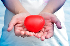 Heart in heart hands Stock Images