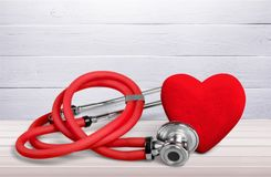 Heart. Health stethoscope medical check hospital medicare Royalty Free Stock Photos