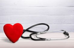 Heart. Health stethoscope medical check hospital medicare Stock Images
