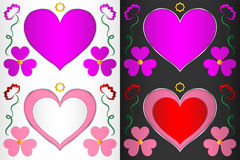 Heart, heart-shaped frame with hearts and flowers. Frame for decoration Royalty Free Stock Photography