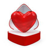 Heart in a heart shaped gift box Royalty Free Stock Images
