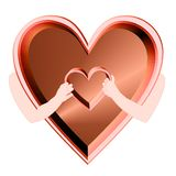 Heart in heart Royalty Free Stock Photography