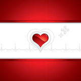 Heart and heartbeat symbol Royalty Free Stock Image