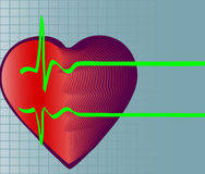 Heart and heartbeat symbol Royalty Free Stock Images