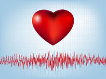 Heart and heartbeat symbol. EPS 8 Royalty Free Stock Photo