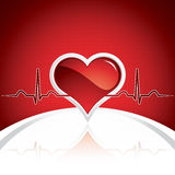 Heart and heartbeat symbol Stock Image