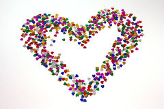 Heart from hearts. On the background royalty free stock image