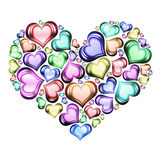 Heart of hearts 3. Heart of hearts in color with white background Stock Photo
