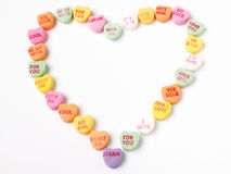 Heart of hearts. Candy hearts in a heart shape stock image