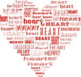 Heart of hearts. Shape of a heart made of words heart royalty free illustration