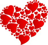 Heart by hearts Royalty Free Stock Image
