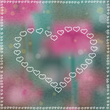Heart in Hearts Bokeh Background Stock Photos