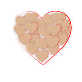 Heart of hearts of cardboard Stock Image