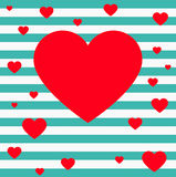 Heart. And s, for greeting card Stock Photography