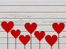Heart hearts love valentines day wood board Royalty Free Stock Photos