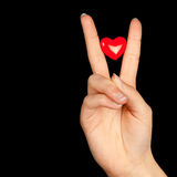 Heart in her hand Stock Photo