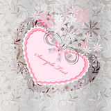 Heart herb 2. Classical  Valentine decorative background with rose heart Royalty Free Stock Images