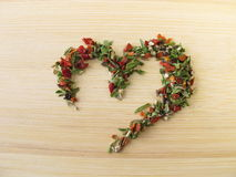 Heart of herb pepper Royalty Free Stock Images