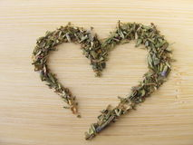 Heart from herbs of the Provence Stock Photography
