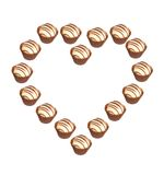 Heart - Herz. Heart shaped out of Pralines on white Background - Herz aus Pralinen geformt vor weissem Hintergrund stock illustration
