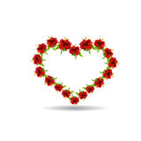 Heart of hibiscus flowers and leaves Royalty Free Stock Photography