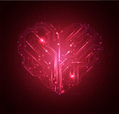 Heart high tech background. Love heart high tech background Stock Photography