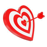 Heart hit Stock Photo