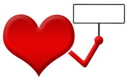Heart Holding Signboard Royalty Free Stock Photos