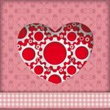 Heart Hole Gears Ornaments Stock Photography