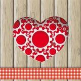Heart Hole Gears Wood Royalty Free Stock Photo