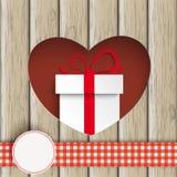 Heart Hole Gift Carton Stock Photo