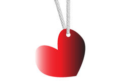 Heart with hole hanged by rope Royalty Free Stock Photography