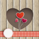 Heart Hole Hearts Balloons Wood Stock Images