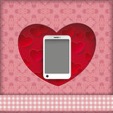 Heart Hole Smartphone Ornaments Royalty Free Stock Image