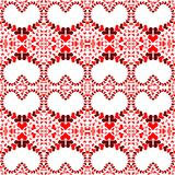 Heart Holes Love Seamless Pattern. White heart holes made of multiple tiny hearts. Seamless texture love pattern Stock Photography