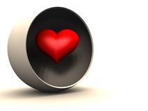 Heart in Hollow Globe Stock Images