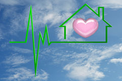 Heart at Home Stock Image