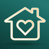 Heart and home symbol Royalty Free Stock Photos